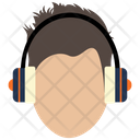 Boy With Headphones Icon