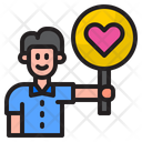 Boy With Heart Sign Icon