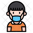 Boy With Mask Kid Young Icon