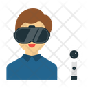 Boy with vr glasses Icon