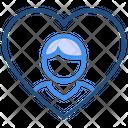 Heart Valentines Day Boy Icon