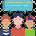 Boys Discussion Icon