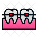 Braces Teeth Gum Icon