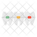 Braces Dental Teeth Icon