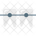 Braces Dental Mouth Icon