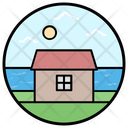 Brach House Farmhouse Barn House Icon