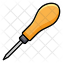 Sharpened Screwdriver Woodworking Awl Icon