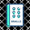 Braille Code Braille Book Blind Icon