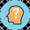 Brain Head Questionmark Icon