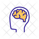 Operating Brain Contour Icon