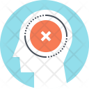 Brain Failure Mark Icon