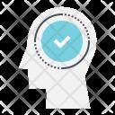 Brain Verify Accept Icon