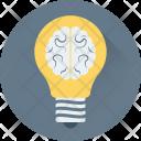Brain Bulb Idea Icon