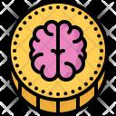 Brain Smart Coin Icon