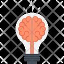 Brain Brainstorm Bulb Icon
