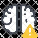 Brain Error Warning Icon