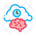 Brain Clock Cloud Icon