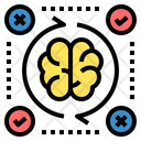 Assessment Process Brain Icon