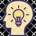 Brain Capability Brainstorming Innovation Icon