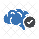 Brain Mind Check Icon