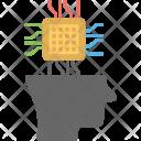 Brain Chip Artificial Icon