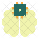 Brain Chip Technology Icon