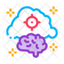 Brain Cloud Target Icon