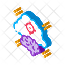 Brain Cloud Target Icon