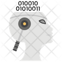 Brain Code Binary Code Internet Concept Icon