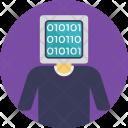 Man Coding Binary Icon