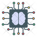 Brain Microprocessor Brain Cpu Brain Microchip Icon