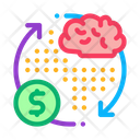 Brain Cycle Money Icon