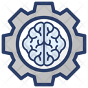Artificial Intelligence Brain Development Brain Processing Icon