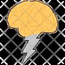 Brain Energy Brainstorming Brain Working Icon