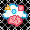 Dementia Brain Figures Icon