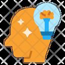 Intelligence Thinking Brainstorming Icon