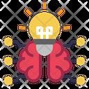 Light Bulb Brain Idea Icon