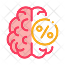 Brain Concept Percentage Icon