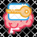 Key Brain Disease Icon