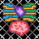 Neuromarketing Label Brain Icon