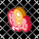Dementia Brain Location Icon