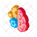 Brain Work Mechanical Icon