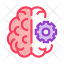 Brain Gear Technology Icon