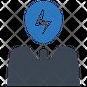Brain Power Energy Brainstorm Icon