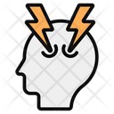 Brain Power Mind Energy Brainstorming Icon