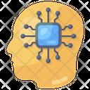 Brain Processor Artificial Intelligence Analytical Brain Icon