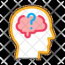 Brain Question Mark Icon
