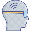 Brain Signals Head Smart Glass Icon