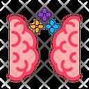 Brain Synchronization Collaboration Icon