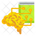 Brain Technology Ai Automaton Icon